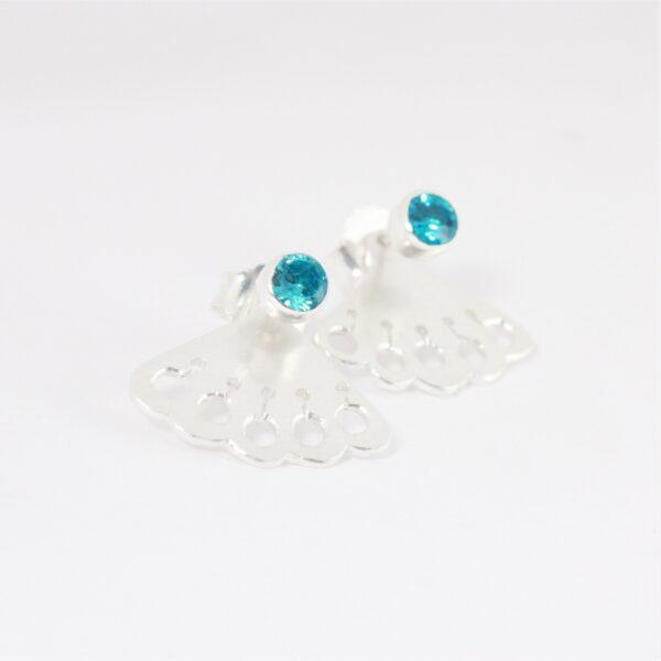 Boucles d'oreilles détachables en argent Fabrication artisanale dans le vieux lyon