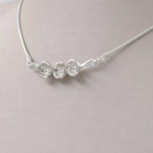 collier raffiné diamant en argent Fabrication artisanale dans le vieux lyon