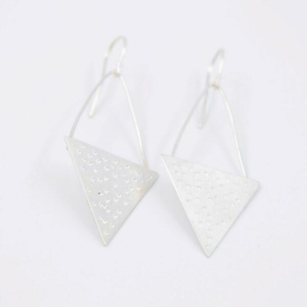 Boucles d'oreilles triangle - Collection les Imprimés