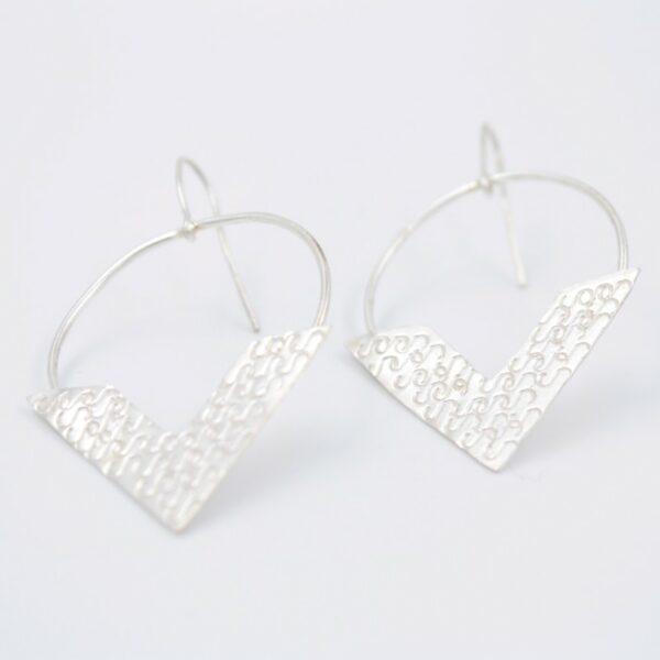 Boucles d'oreilles V- Collection les Imprimés