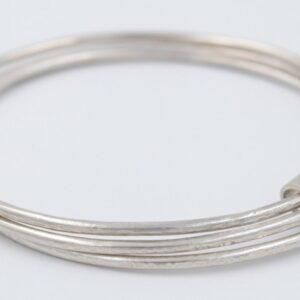 Bracelet triple Jonc en argent Fabrication artisanale dans le vieux lyon