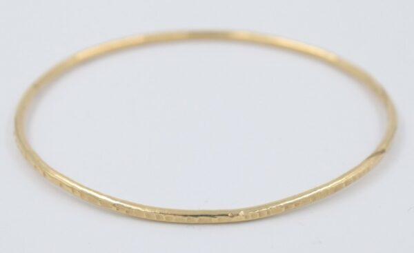 Bracelet Jonc en plaqué or Fabrication artisanale dans le vieux lyon