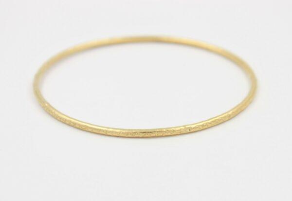 Bracelet Jonc plaqué or seul ciselé rond